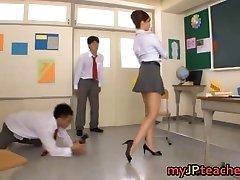 Kaori Hot Chinese tutor getting