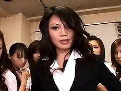 Japanese Babe in gangbang
