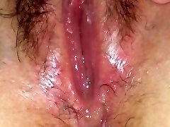 Raw pussy fluid solo