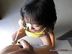Little girl spunked in