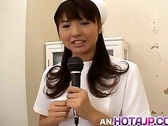 Misato Kuninaka nurse is romped with medical tools and vibra