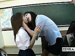 Subtitled Asian schoolgirls teacher kiss interviews