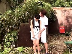 Little chinese thighfucked outdoors