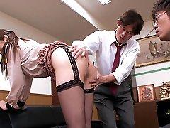 Fantastic Japanese whore Hina Akiyoshi in Hottest JAV censored Office, Large Tits video