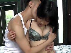 Uncensored pallid Chinese AV star Airi Minami in bungalow