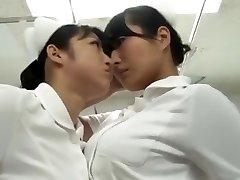 japanese catfight Nurse stockings struggle Battle