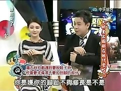Japanese actress in a broadcast spreading toes