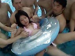 Orgy in Public Pool