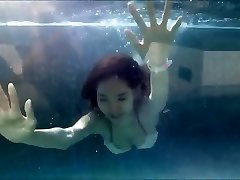Young Asian Girl in Sexy Swimsuit at a Swimming Pool