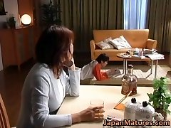 Horny japanese mature babes fellating