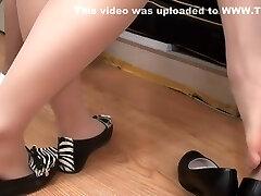 nylon feet Close-up (Asian)