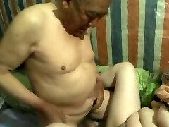 chinese grandpa cum inside granny