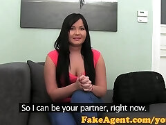 FakeAgent Big young titties chubby babe ass-fuck creampie with a friend