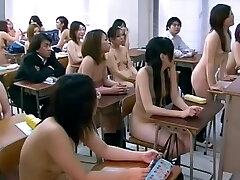 CMNF - Japanese naked girls college