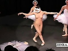 Subtitled Chinese CMNF ballerina recital takes off naked