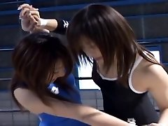 Japanese Babes Grappling