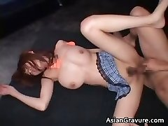 Boobed real asian red head getting her part6