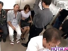 Super-steamy MILF Gets Her Pantyhose Pulled Down To Tear Up On A Train