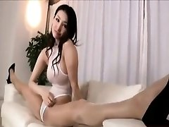 hot Azumi in white stockings and stockings