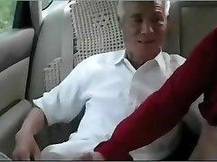 Old man chinese smash mature woman