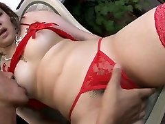 Lingerie model, Ai Yuumi, luvs oral stimulation
