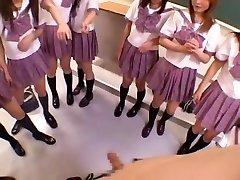Impressive Japanese girl Michiru Hoshizora, Miyuki Yokoyama, Minami Yoshizawa in Horny Group Fuck-a-thon, POV JAV video
