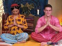 Massage Rooms Hot Thai masseuse takes hard prick in her pierc