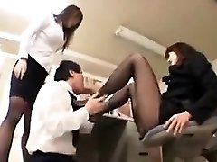 Worshipping Nylon Coated Asian Feet