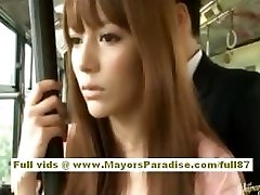 Miho Maeshima Asian dame gets a cum load on her glasses