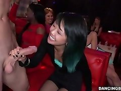 Youthful Asian Woman deepthroats Stripper