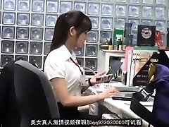 Sweet asian office dame blackmailed