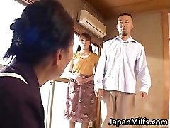 Horny japanese MILFS deep throating and screwing part4