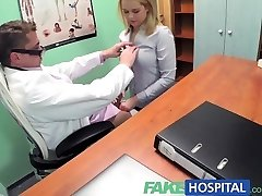 FakeHospital Sexy ash-blonde saleswoman gets poked on the physicians desk to secure an order