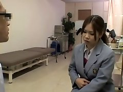 Kinky hot medical exam for a smoking steaming Japanese gal