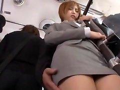 Crazy Japanese girl Yu Namiki in Unbelievable Bus, Secretary JAV movie