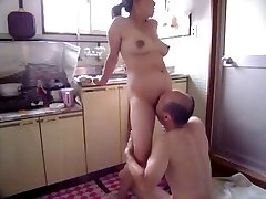 Japanese Cougar at kitchen