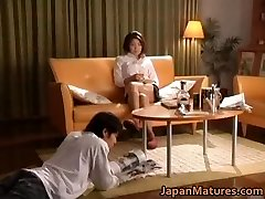 Horny japanese mature honeys sucking