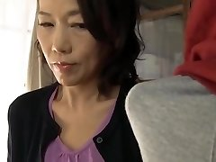 Japanese mom making son practice fuck-a-thon