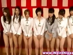 JAPANESE BABES LINEUP WITHOUT Underpants ON