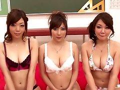 Sexy Asian models Hinata Komine, Mirei Yokoyama, Nachi Sakaki in Hottest JAV censored Creampie, Gang Sex video