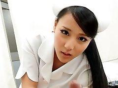 Sizzling Nurse Ren Azumi Drilled By Patient - JapanHDV