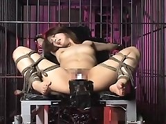 Asian ultra-cutie hogtied and boinked by toys