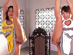 Very Supple Cheerleader Enjoyment Each Other - CosplayInJapan