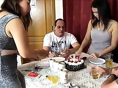 Asian amateur wives get swapped on a birthday party