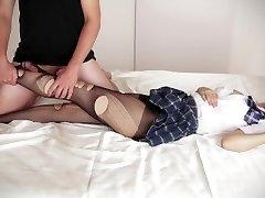 Natsuki Yokoyama - Schoolgirl Pantyhose Porking