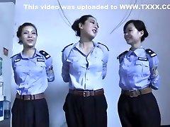 3 Chinese Girls Playing In Restrain Bondage