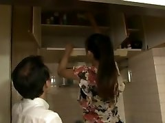 Tall Chinese girl fucks small men