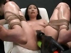 Asian Made To Ejaculation With Power Tools