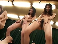 Japanese Milfs crazy pee party