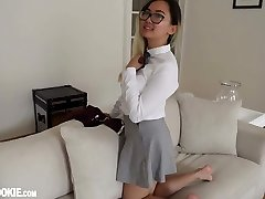 Gorgeous Chinese Schoolgirl Teen Harriet Sugarcookie Solo